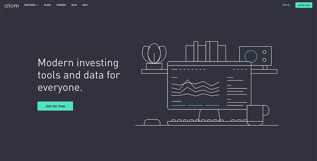 Atom Finance investing tools